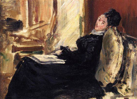 Edouard Manet, Woman with a Book, 1875