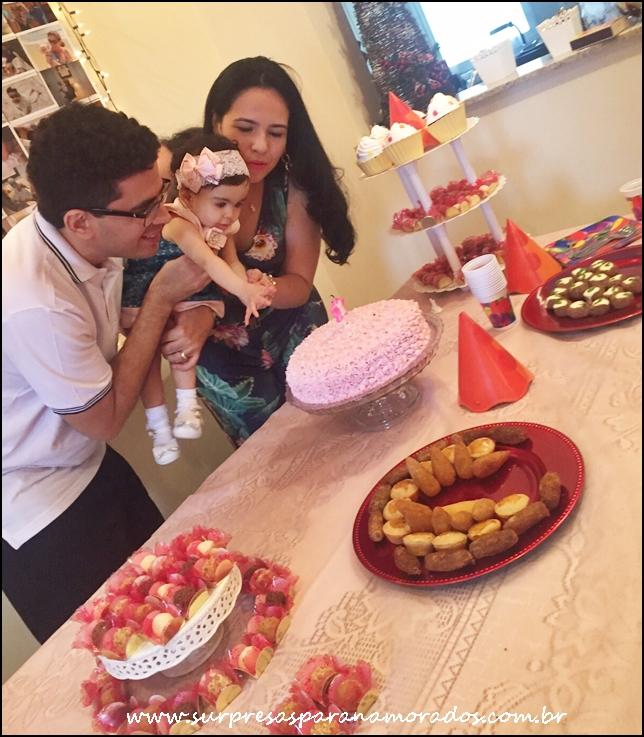 bolo e festa