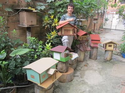 Casinhas de abelhas nativas