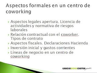 taller - aspectos formales en un centro de coworking