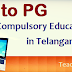 Telangana KG to PG Free and Compulsory Education Scheme TS KG to PG Schools