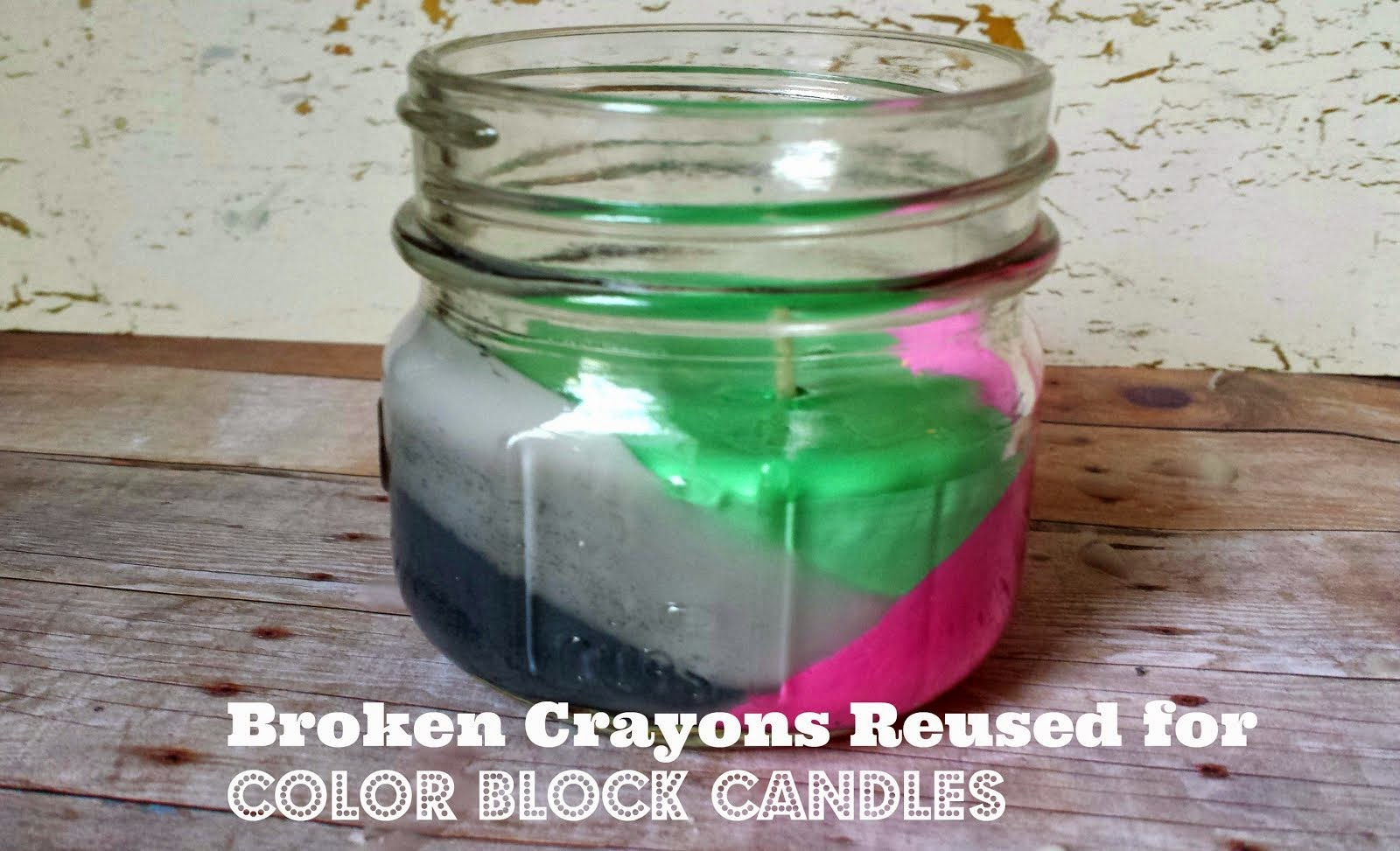 Reused Broken Crayons to Make Candles