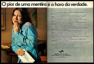 Correios, anos 70.  1974. década de 70. os anos 70; propaganda na década de 70; Brazil in the 70s, história anos 70; Oswaldo Hernandez;