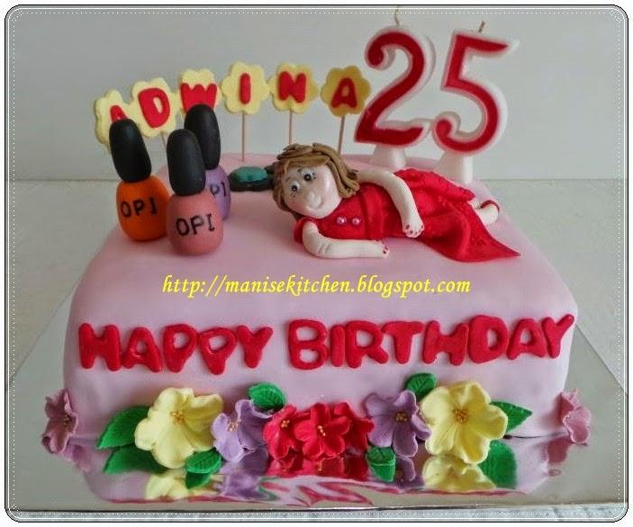Manise Kitchen Nail Polish Birthday Cake For Adwina