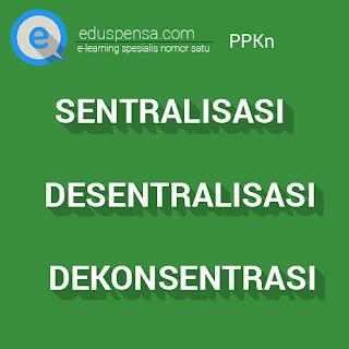 Pengertian Sentralisasi, Desentralisasi, Dekonsentrasi