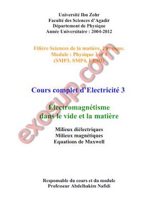 Cours complet d'Electricité 3 FSA