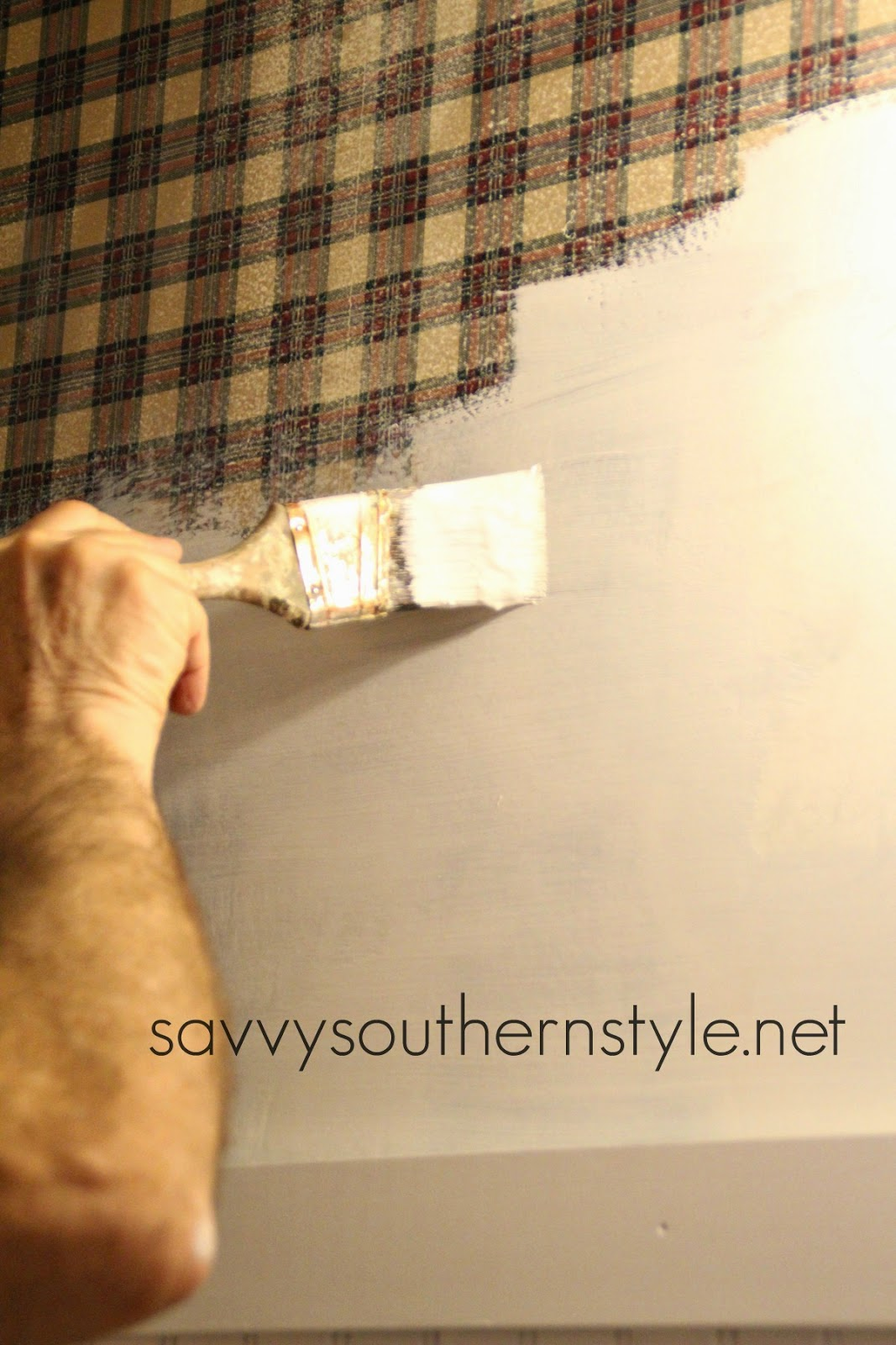 Savvy southern style how to paint over wallpaper for What do you use to remove wallpaper
