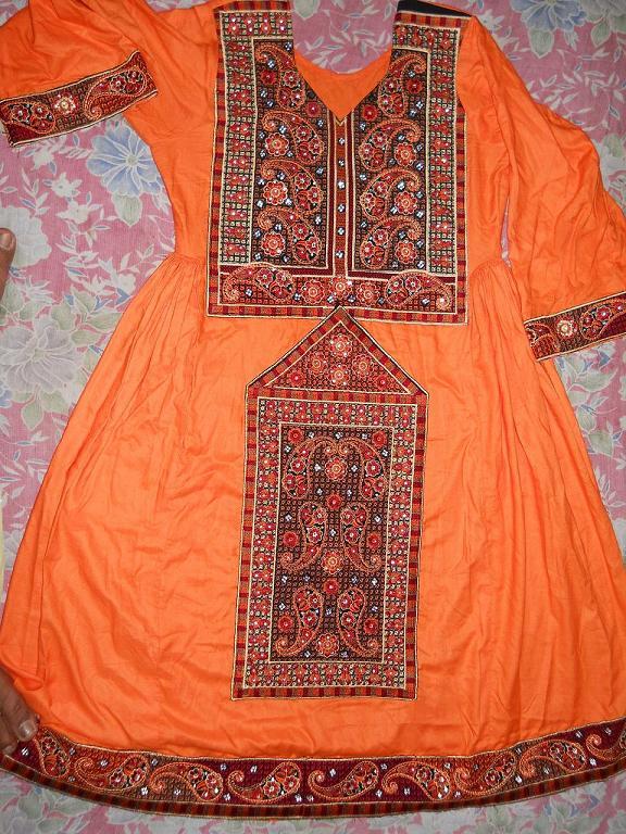Modern dress clothes for a woman - Pakistan Traditional Balochi Baluchi Dresses