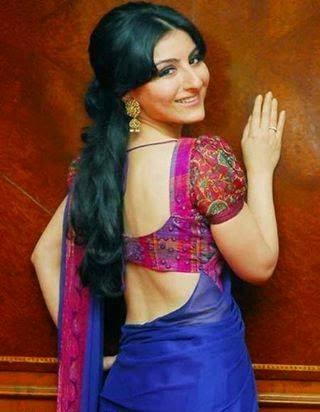Soha Ali Khan's unseen steamy sexy backless saree braless hot pics hd hot bollywood actress