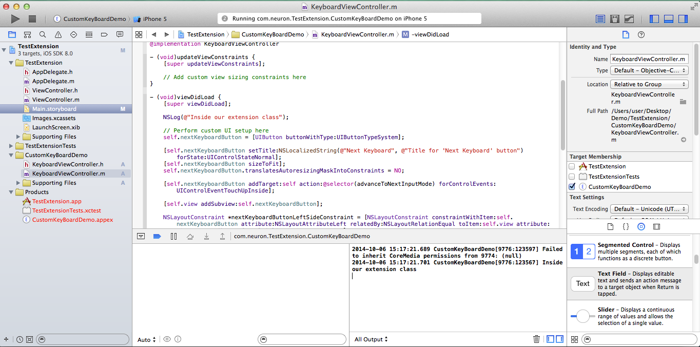 Debug Extension: Debug Extensions For IOS 8 In Xcode