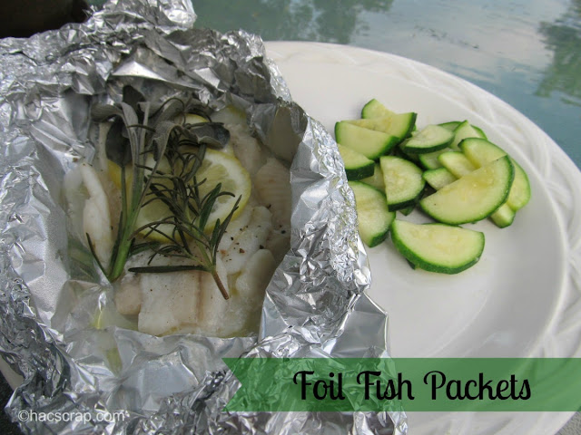 How to make foil fish packets in the oven or on the grill
