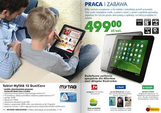 Tablet MyTab 10 Dual Core Biedronka ulotka