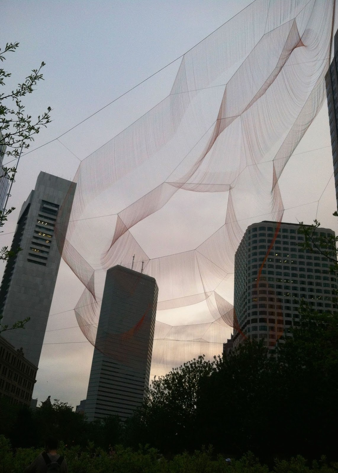 Monday Meetings & Farewells - Janet Echelman Boston Art | Pennies & Paper Blog