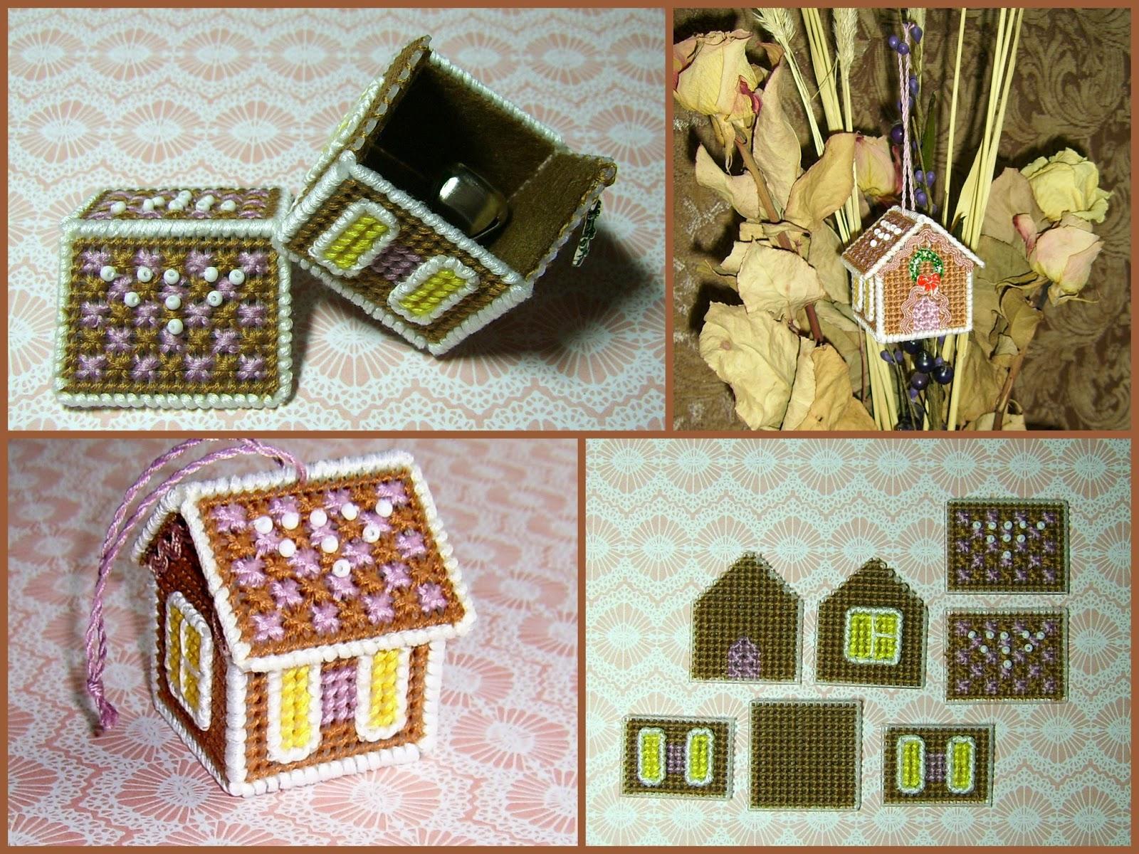 схема вышивки пряничного домика зд