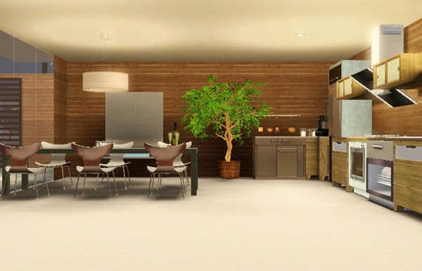 [LIVING DESIGN] WOODEN BOX HOUSE THE SIMS 3 kitchen