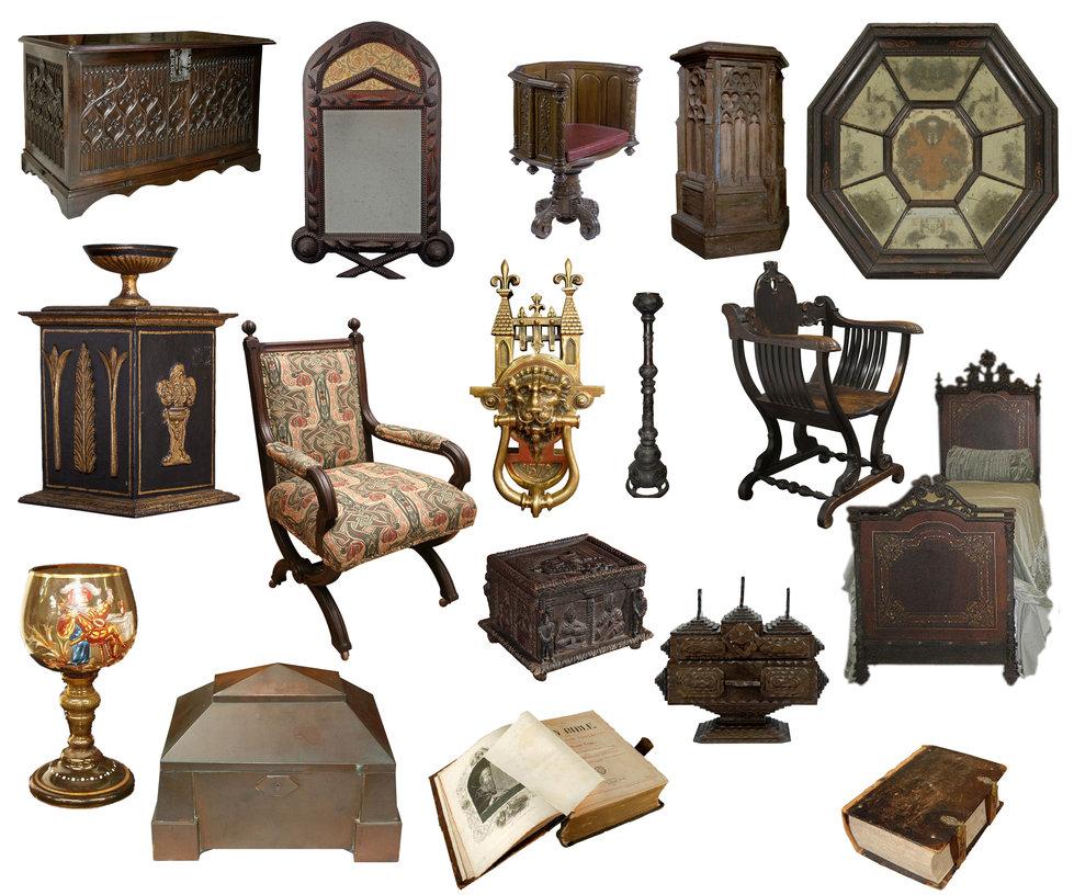 Imagenes de muebles y objetos al estilo medieval cute e for Muebles de epoca