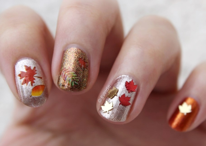 Autumn Leaf Nail Decoration | Cute Nail Art Ideas For Fall ...