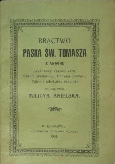 BRACTWO PASKA ŚW. TOMASZA Z AKWINU