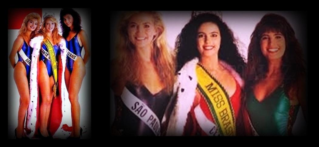 MISSES UNIVERSO BRASIL TOP TRES 1988 E 1989