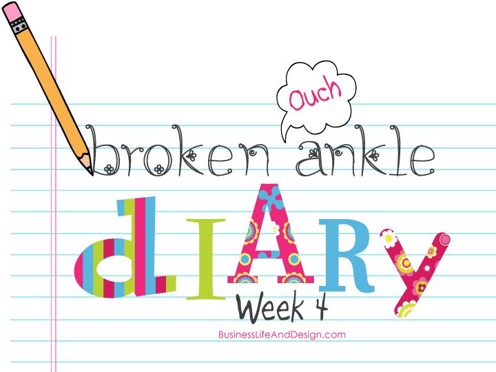 Broken Ankle Diary - Week 4