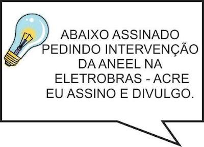 Assinem abaixo-assinado ENERGIA ELÉTRICA-QUINARI