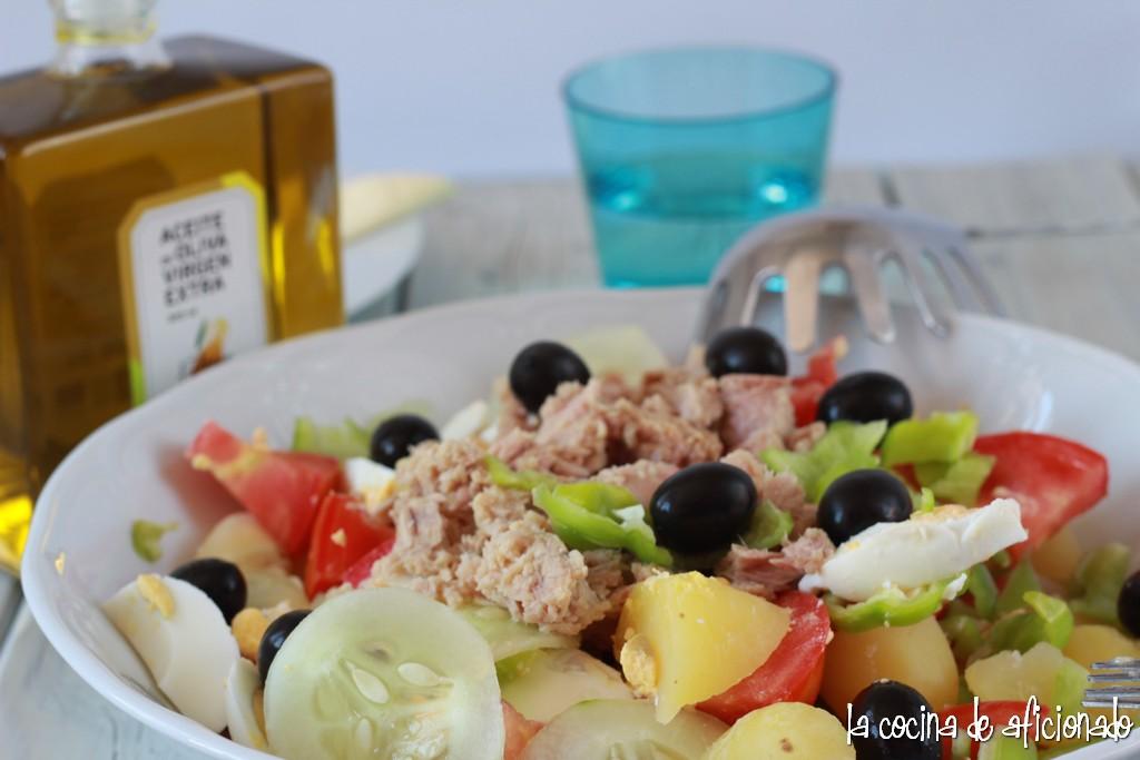 la cocina de aficionado ensalada campera