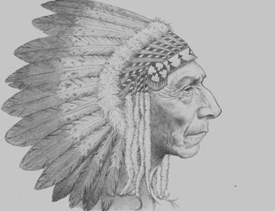 Desenho de indio americano