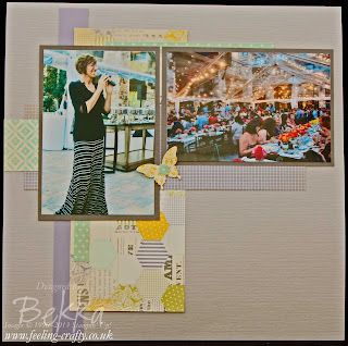 Utah Incentive Trip Welcome Dinner, Afternoon Picnic Scrapbook Page by UK Based Stampin' Up! Demonstrator Bekka Prideaux