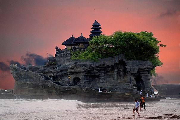 TANAH LOT at BALI in INDONESIA
