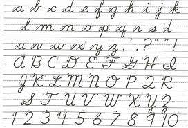 Cursive Writing Sample