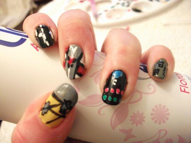 retro video games nails nail