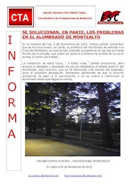 SE SOLUCIONAN, EN PARTE, LOS PROBLEMAS EN EL ALUMBRADO DE MONTEALTO
