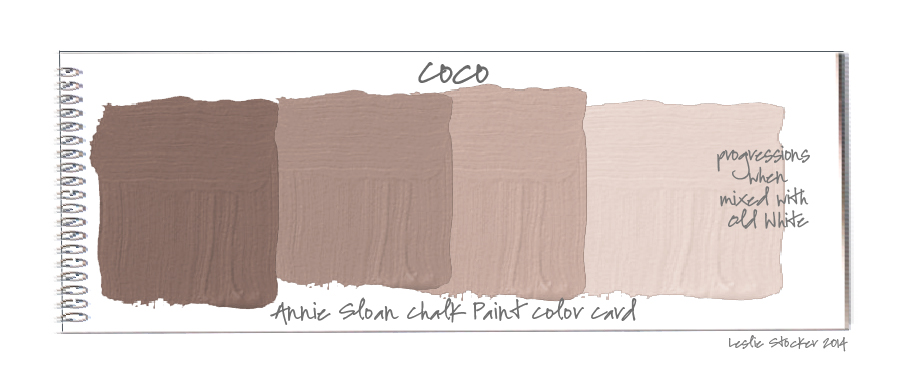 Colorways color swatches for Chalk paint comparable to annie sloan