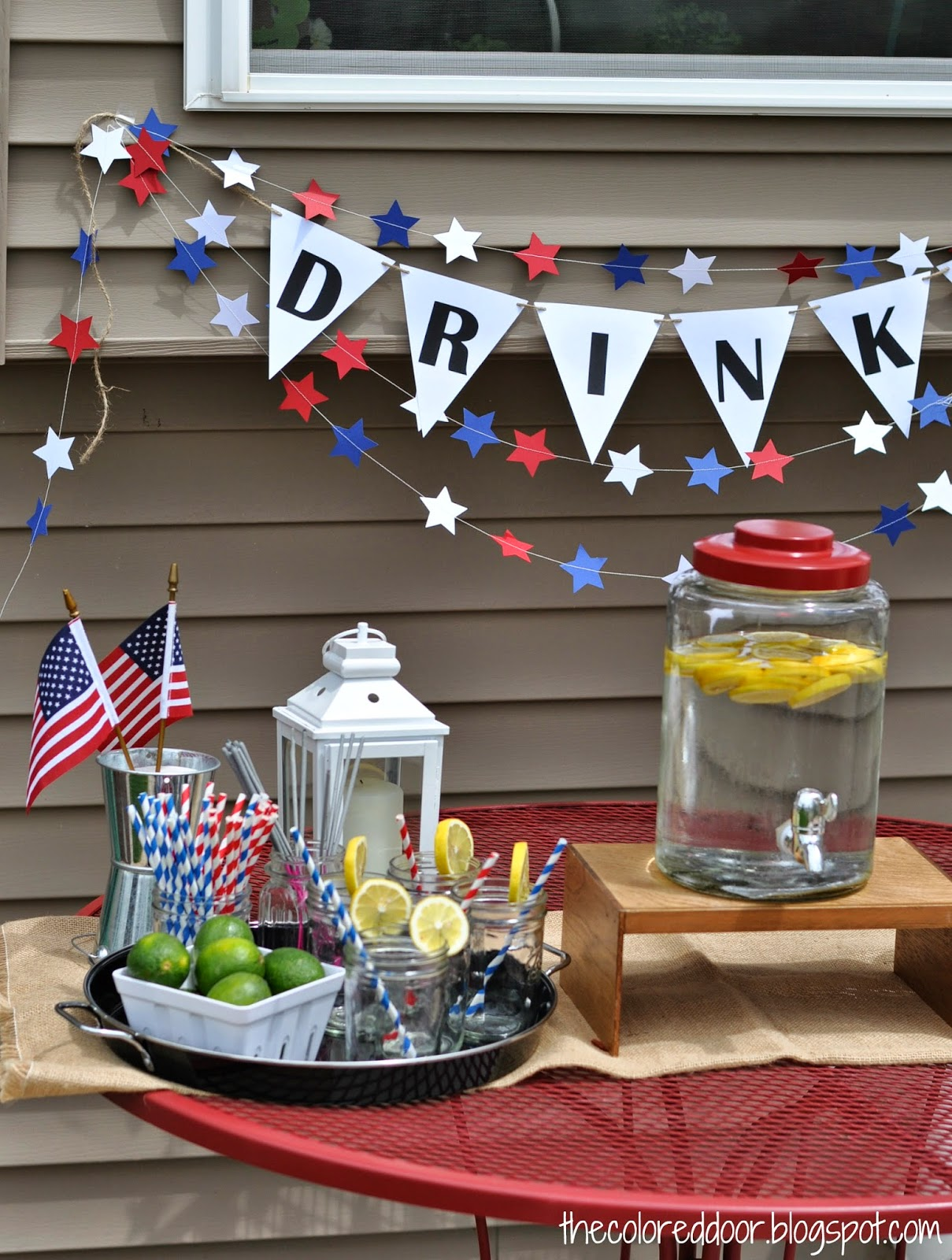 Summer Drink Station | The Colored Door
