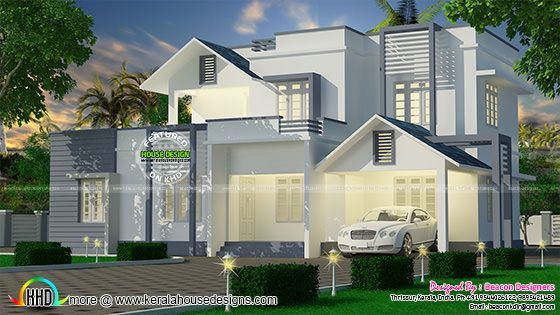 White and grey house design