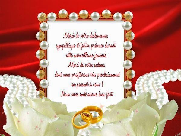 Une belle carte remerciement mariage personnalisé