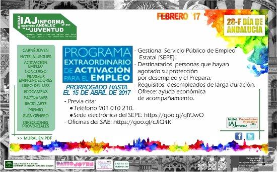 Centro de informaci n juvenil programa extraordinario de for Oficina electronica sepe