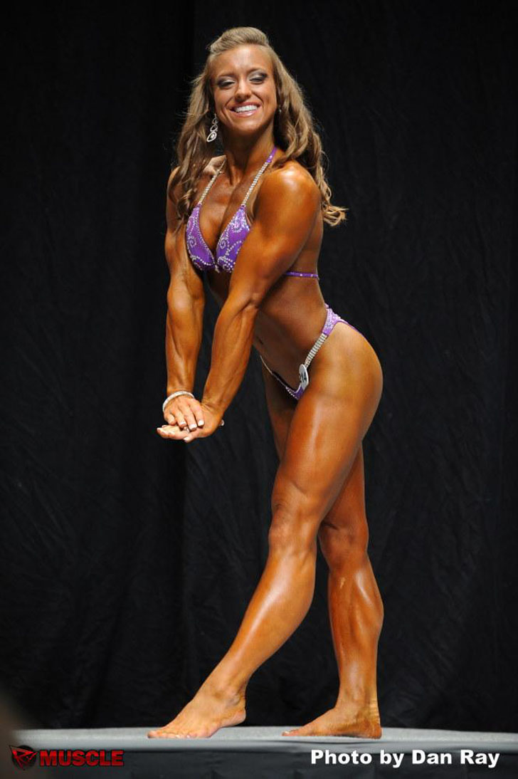 Holland Canter Flexing Her Shredded Physique At The 2012 NPC USA