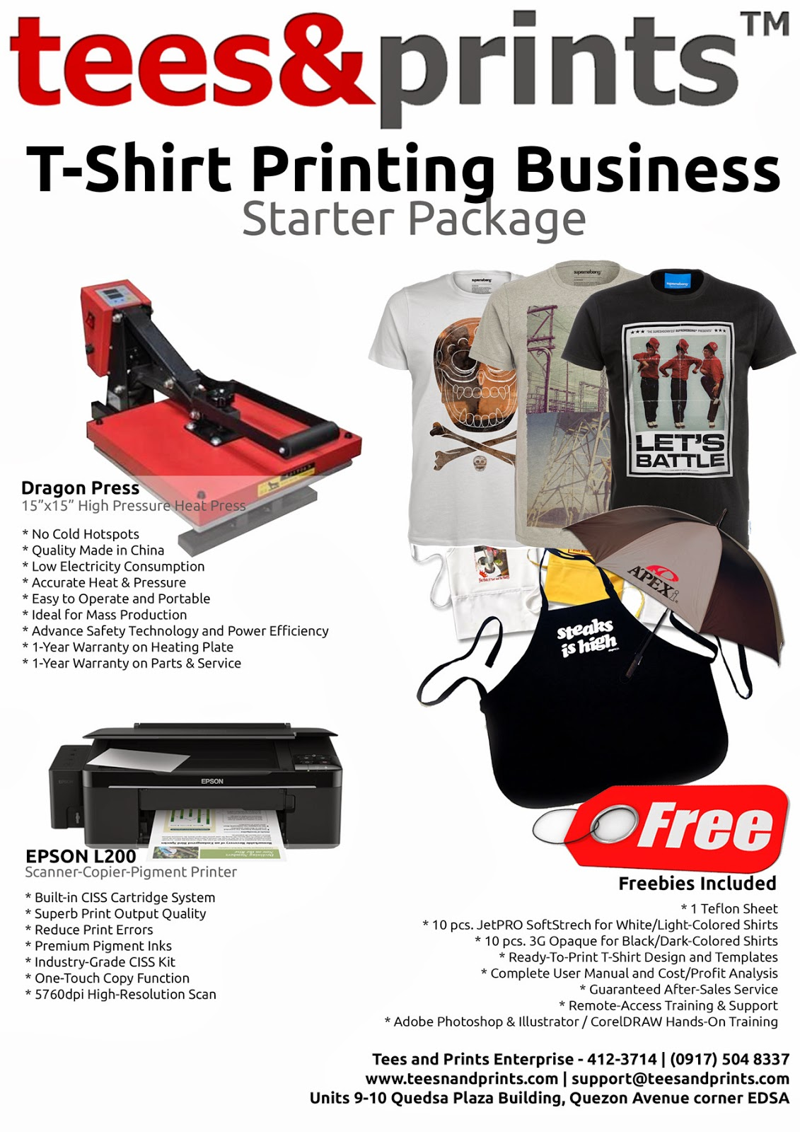 T-shirt design kit - complete package