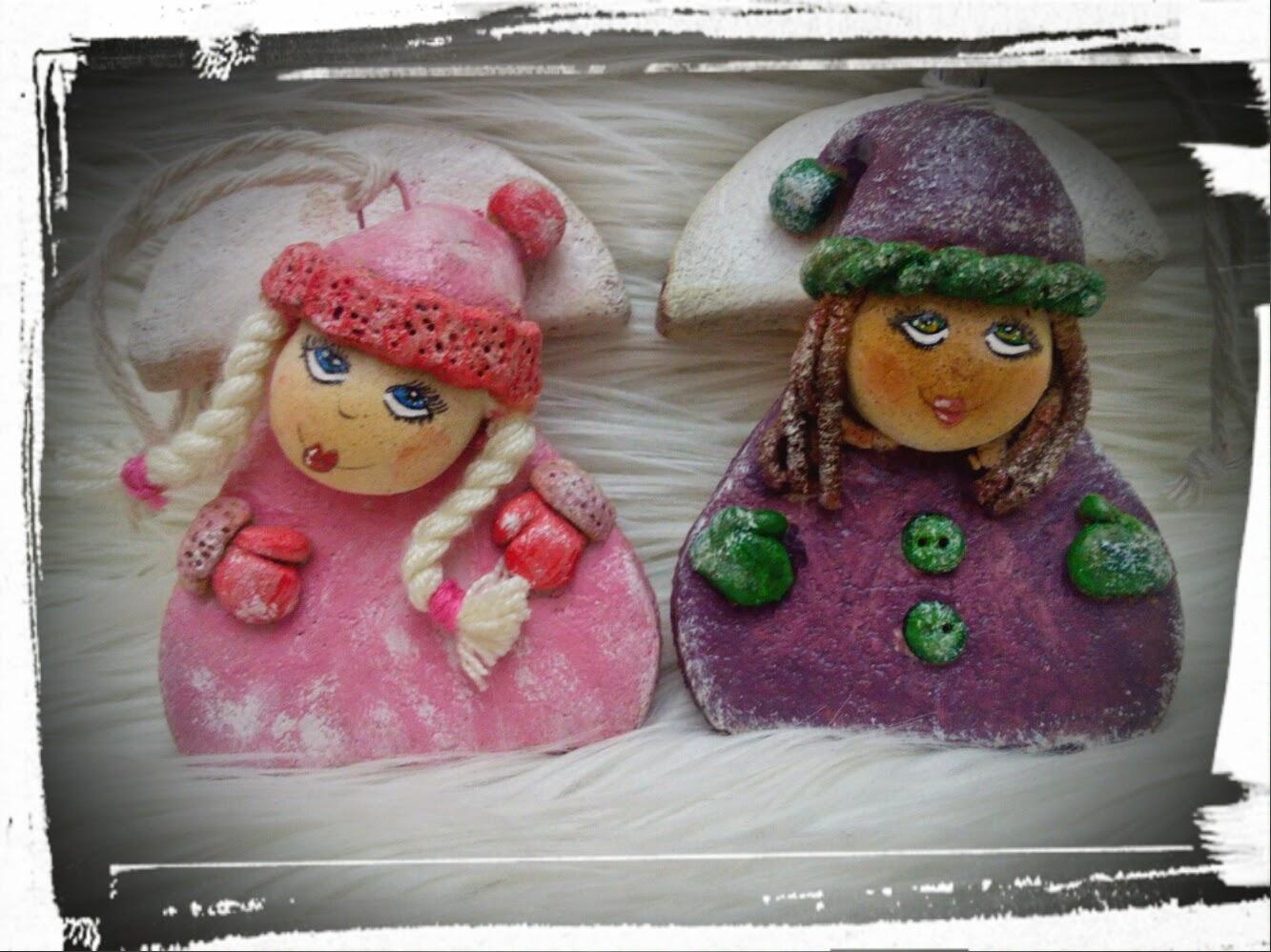 Kolorowe mini-aniołki
