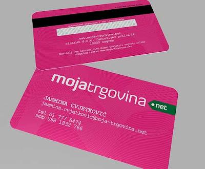 tarjetas de presentacion color rosado