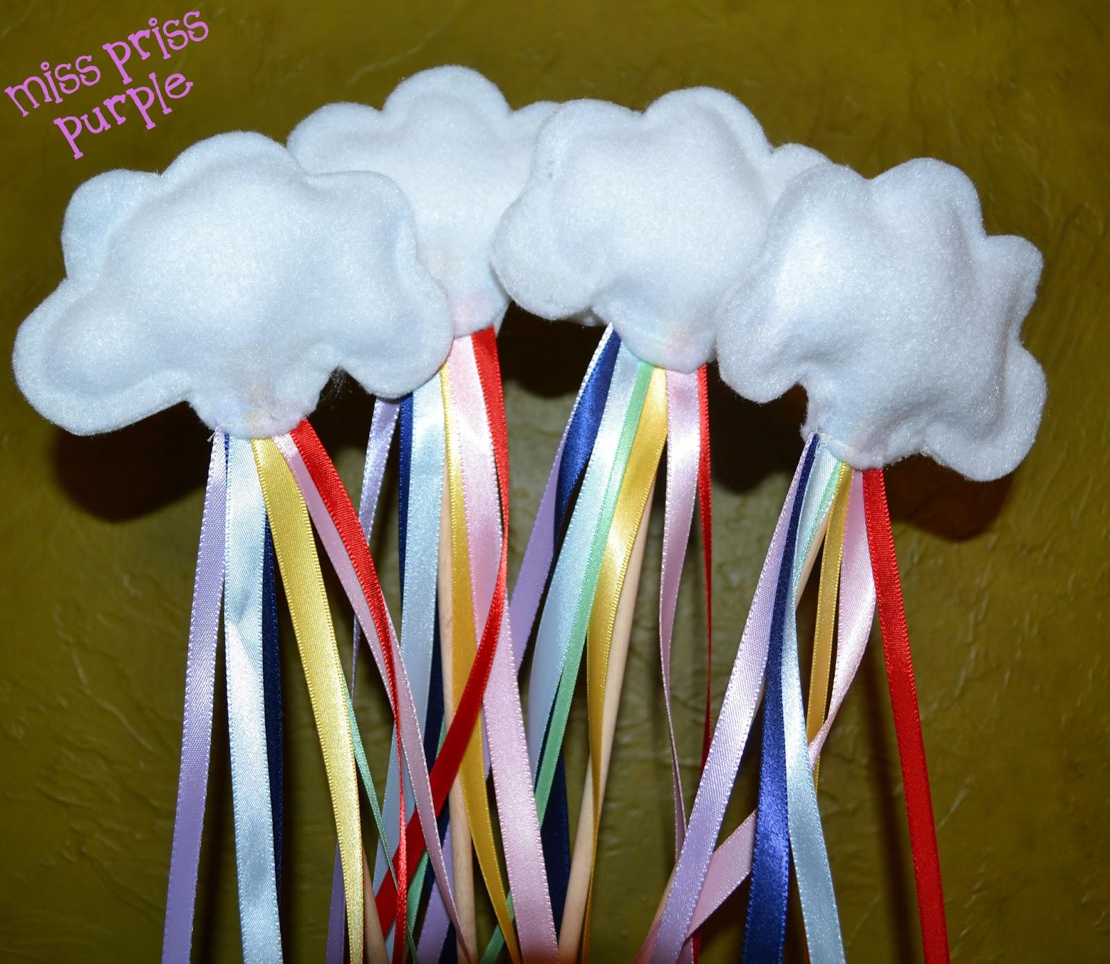 Miss priss purple rainbow ribbon wand for Ribbon wands