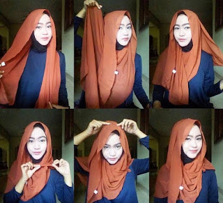 Inilah Tutorial Jilbab Pashmina Sifon Simple
