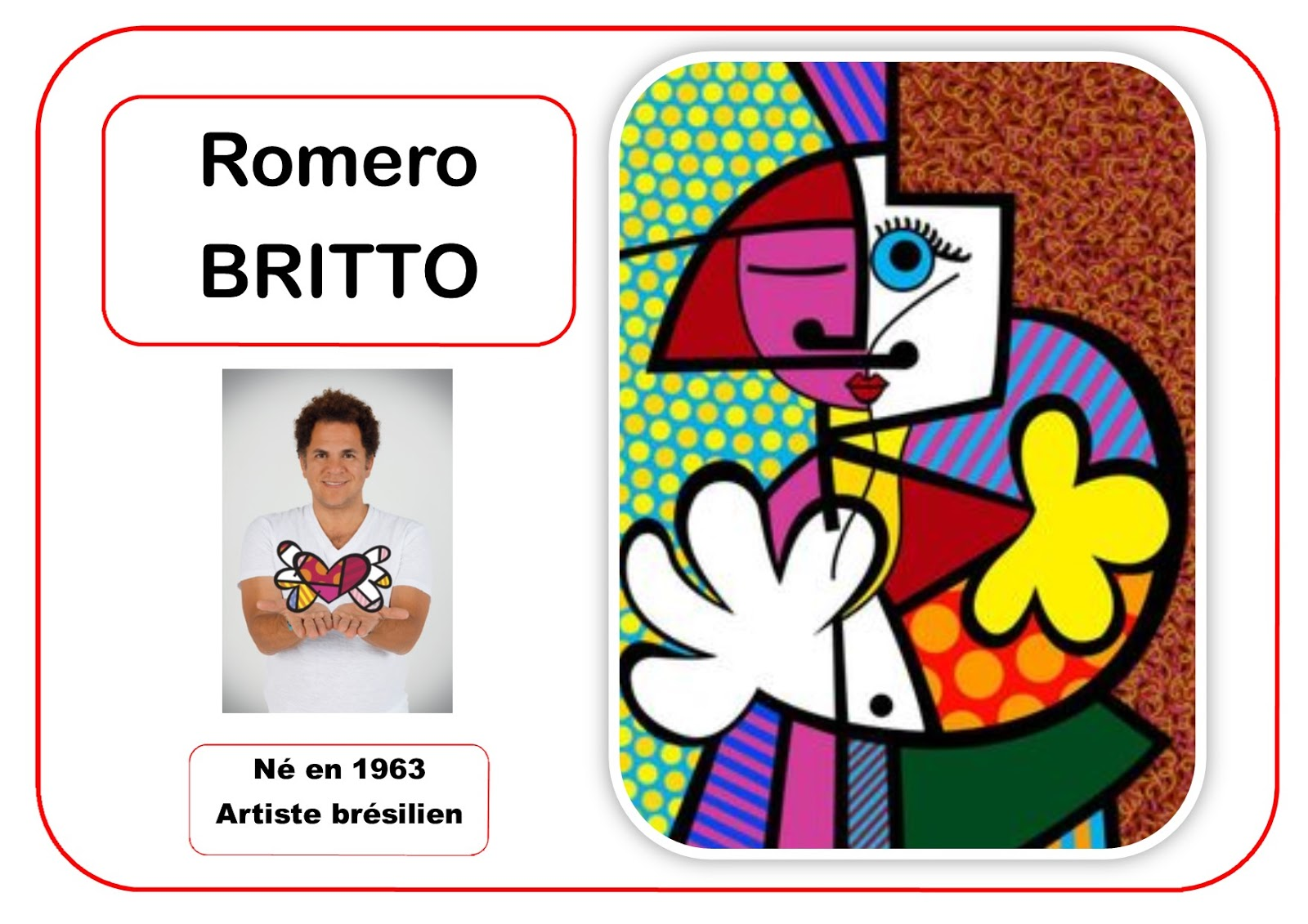 L gant coloriages romero britto fleurs - Coloriage fleur britto ...
