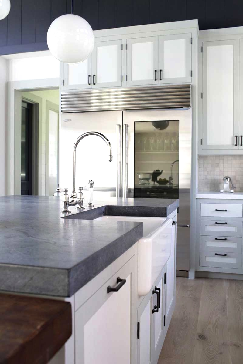 White Soapstone Countertops : Cococozy tale of a two toned kitchen