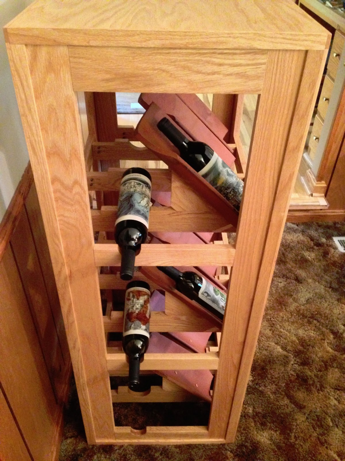 Wine Bottle Storage Angle Warrior Woodwork Reclaimed Terracotta Tile Wine Rack