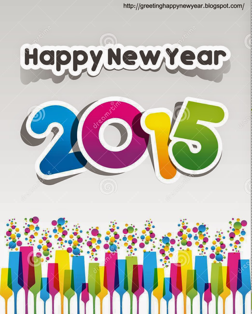 Greeting Happy New Year 2015 Pictures
