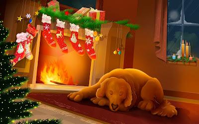 Merry Christmas New Year Wallpaper