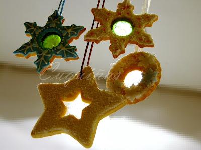 galletas navideñas con caramelo