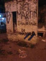 La Cámpora Marcos Paz cierra la campaña con pintadas